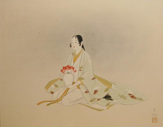 佐多芳郎《献花》(1951年)