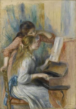 オーギュスト・ルノワール《ピアノを弾く少女たち》1982年頃 116×81cm Photo © RMN-Grand Palais (musée de lOrangerie)/Franck Raux/distributed by AMF