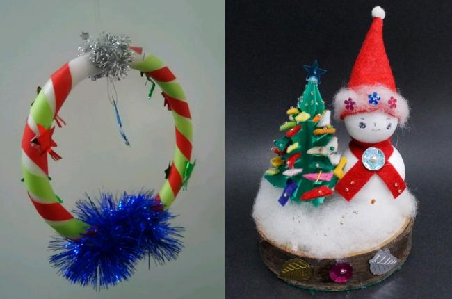 クリスマス飾り作品例