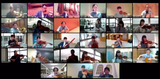 オンラインツールZoomを使用したリモート収録風景