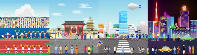 声でキャラクターを操作しながら、東京の街を駆け抜けます。