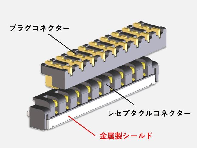 『10Gbps伝送対応ツーピースコネクター』外観図