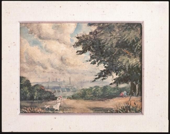 バーナード・リーチ『水彩「ハムステッド・ヒースの風景」』 1903年 エピソード「当初は画家志望」