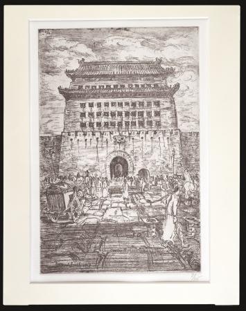 バーナード・リーチ『エッチング「北京の門前」』 エピソード「香港生まれ、京都育ち」