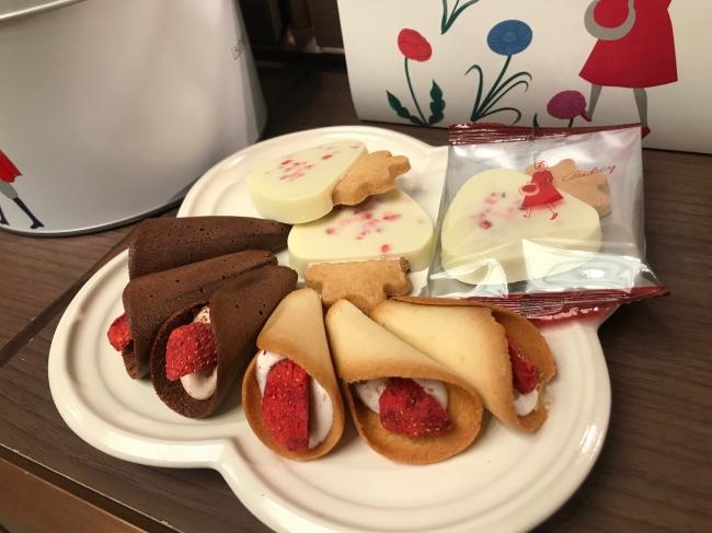 昨年大行列を作った、イチゴスイーツ専門店「オードリー」は、「チョコのワンダーランド」に登場。