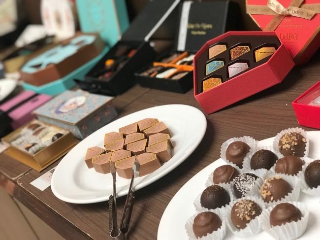 ベルギー「デルレイ」や、英国「プレスタ」など歴史あるヨーロッパを中心としたブランドは「ワールドチョコレートギャラリー」に登場
