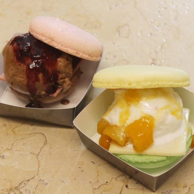 「パヴェ アルチザン」ショコラバーガー(ベリーベリー・マンゴーパッション、各1個)各594円