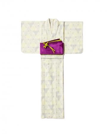 「撫松庵」ゆかた41,800円、 半幅帯 10,780円