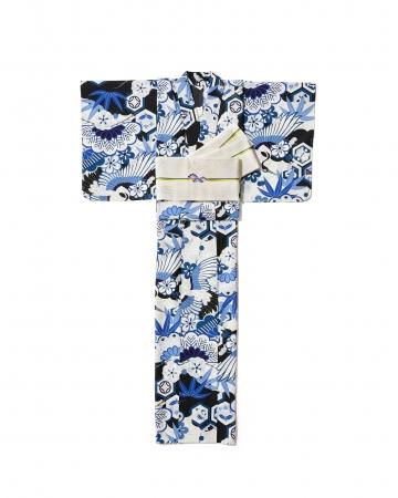「撫松庵」ゆかた41,800円、 半幅帯41,800円