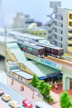 王子公園駅を再現したジオラマ