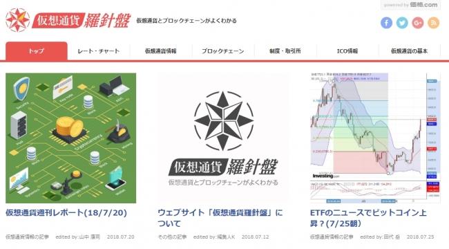【参考】「仮想通貨羅針盤」トップ画面