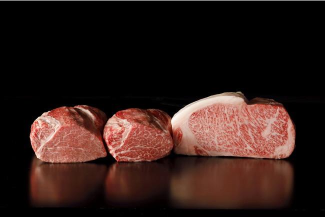 写真左から「宮崎牛」「佐賀産和牛」「尾崎牛」