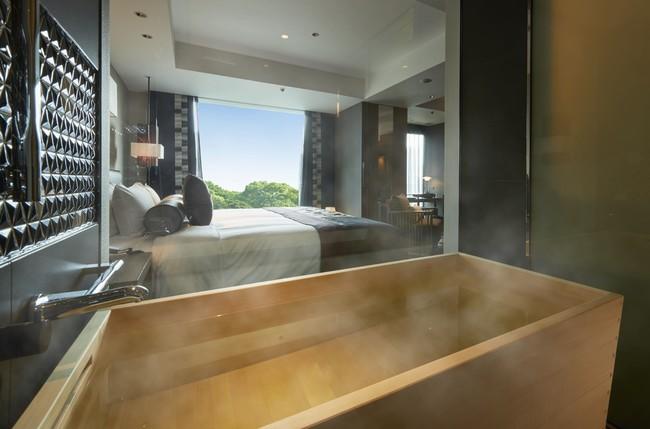 ヒノキ風呂が常設されている『新江戸ルーム』