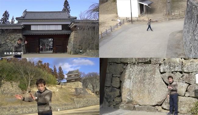 加藤理文先生が城内のポイントをそれぞれ20~30秒ほどの動画で解説