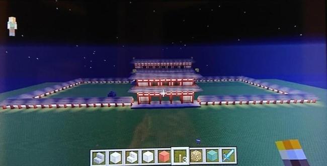 生徒作品例:平城京の門だけ