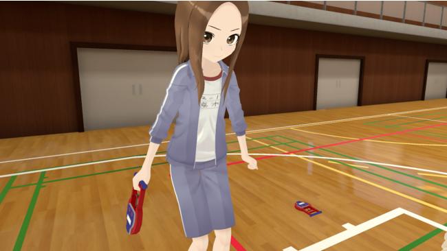 握力測定も真剣顔(VRプレイ画面)