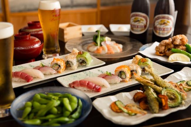 寿司ビアガーデンコース(2時間飲み放題)