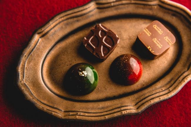 右上:きなこ、左下:黒糖抹茶、右下:りんごほうじ茶