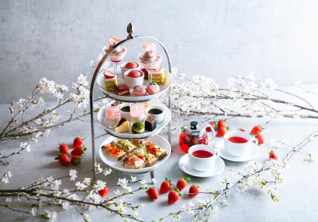 【春季限定】苺と桜のアフタヌーンティーセット
