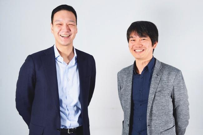 右から、創業者 代表取締役 共同経営パートナー 榊原 健太郎 、共同経営パートナー Chief Strategy Officer 長野 英章