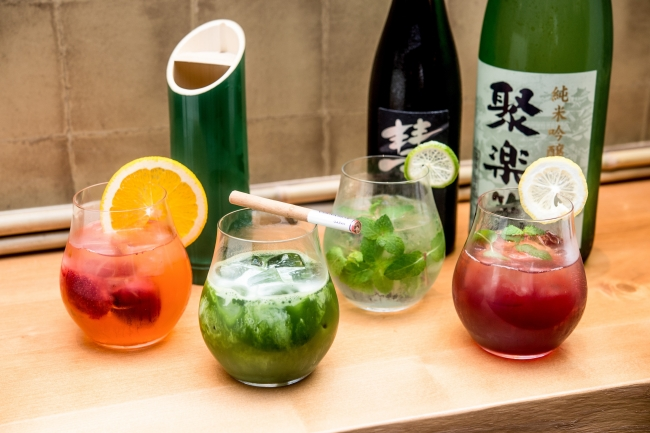 抹茶や季節フルーツを使用したオリジナル日本酒カクテル
