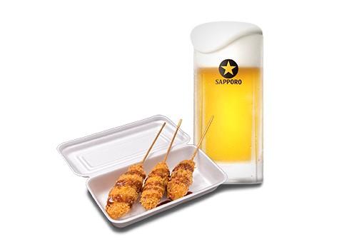 『串カツ』(3本):550円(+税)※ビールセット1,400円