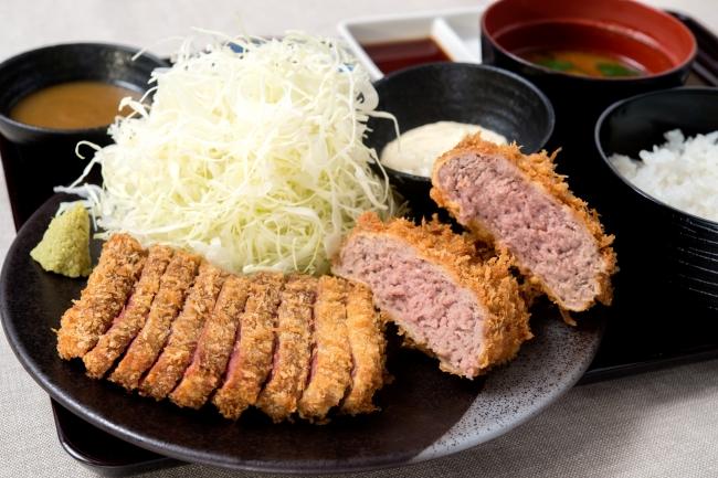 「牛カツとメンチカツの相盛り膳」:1,584円(+税)