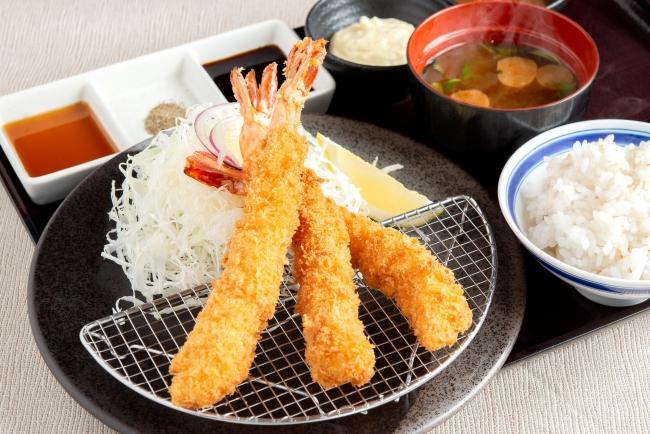 松戸限定「大海老カツ膳」:1480円(+税)