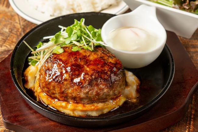 熟成牛ハンバーグ(照り焼き+温泉玉子)