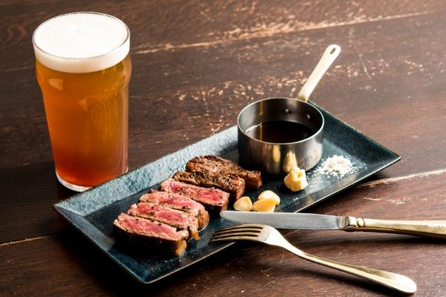 ステーキは、専門店に劣らないクオリティと豊富な部位をご用意。