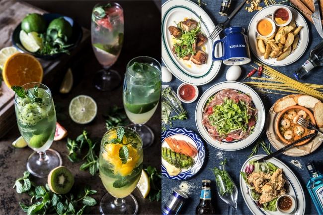 ディナーは、バルスタイルでお酒に合う小皿料理を豊富にご用意。
