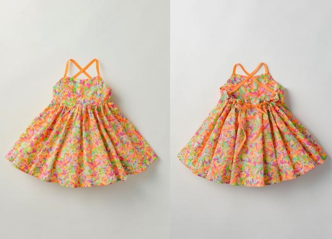 """左:前面 右:背面 ワンピース""""doudou(ドゥドゥ) dress"""" カラーmandarin"""