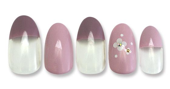 色相を統一したスマートなデザイン。小さいホロ花で可愛らしさをプラス!
