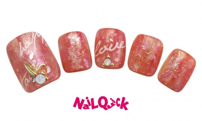 シェルネイル(フット)「summer foot nail」