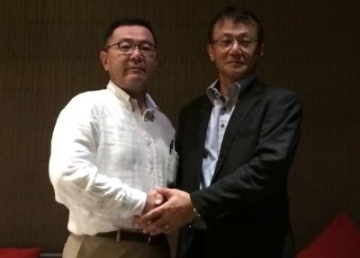 (左から)ロジザード 海外推進部部長大塚、エム・ソフトタイランド マネージャ黒田氏