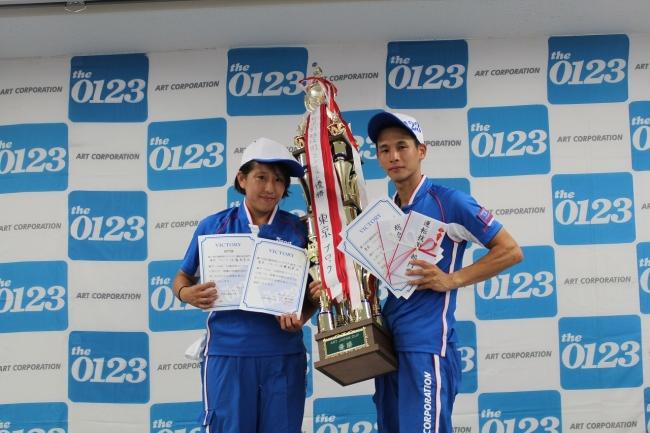 優勝した東京ブロック代表チーム (右から、工藤 亮、佐藤 朝美)