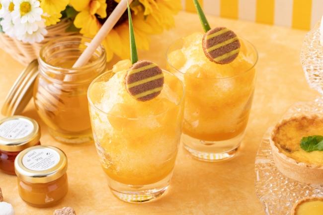 ハチミツとマンゴーのカキ氷(8月)