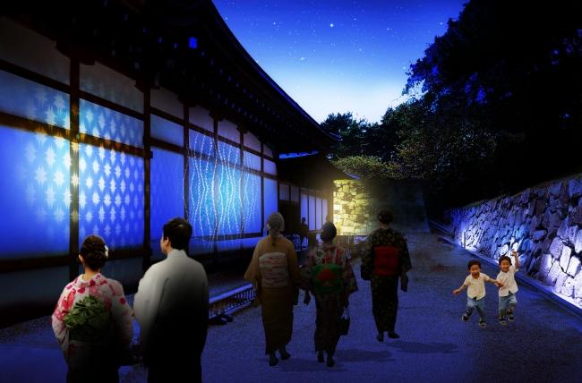 <伝統と光に染まる入路>