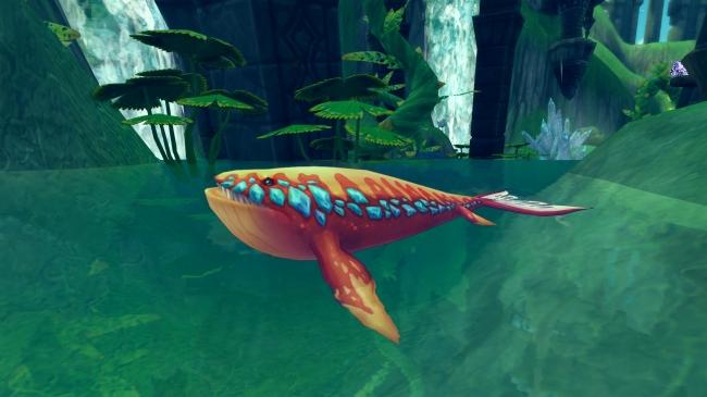 ▼一定時間ごとに現れる「神秘的な魚群」