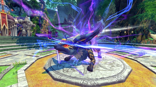 ▼素早い攻撃を繰り出し、電撃で動きを阻害する過去最強の降臨王「紫電孤ライフォン」
