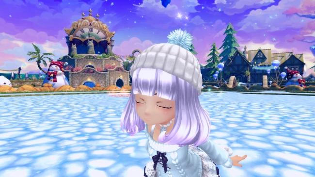 頭飾りアバター「スノーニット帽」