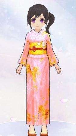 金魚柄の浴衣(女性装備)