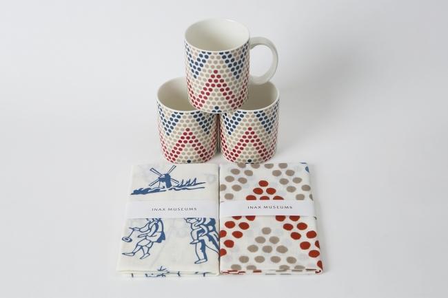 クレイペグデザインのマグカップと手ぬぐい 価格:マグカップ1,000円(税別)、手ぬぐい950円(税別)