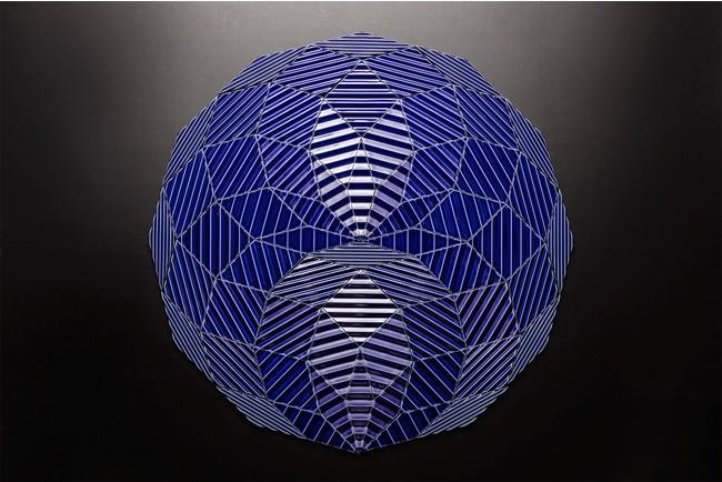 図版2) RHOMBUS WORKS【JAGGED】 野老朝雄、2020、タイル、 φ770mm 撮影:梶原敏英 *図版1と同じ。12角形に組み替えたもの。