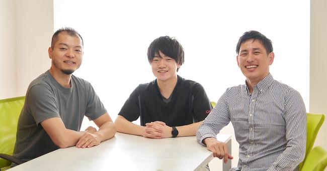 写真中央:株式会社co-nect代表取締役の中山友貴さん、左:GOB Incubation Partners株式会社代表取締役の山口高弘、右:同取締役副社長の高岡泰仁