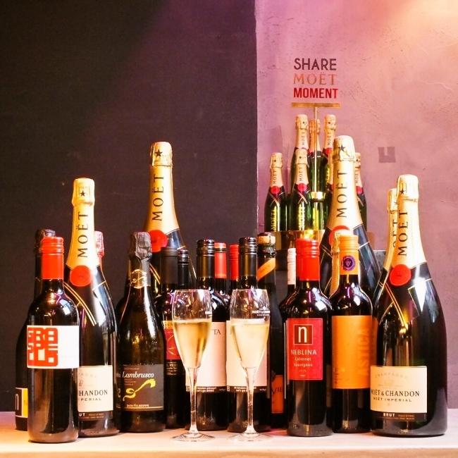 《CONAオリジナルワインをはじめとした全20種類のワインが60分¥570で飲み放題に!!》
