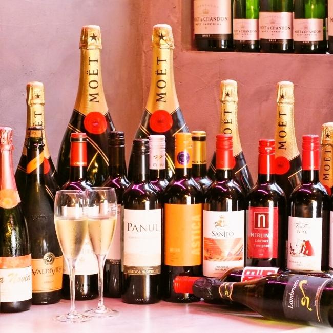 《ファーストドリンクは衝撃の1円に!生ビールやワインなど、  お好きなものをお楽しみください!》