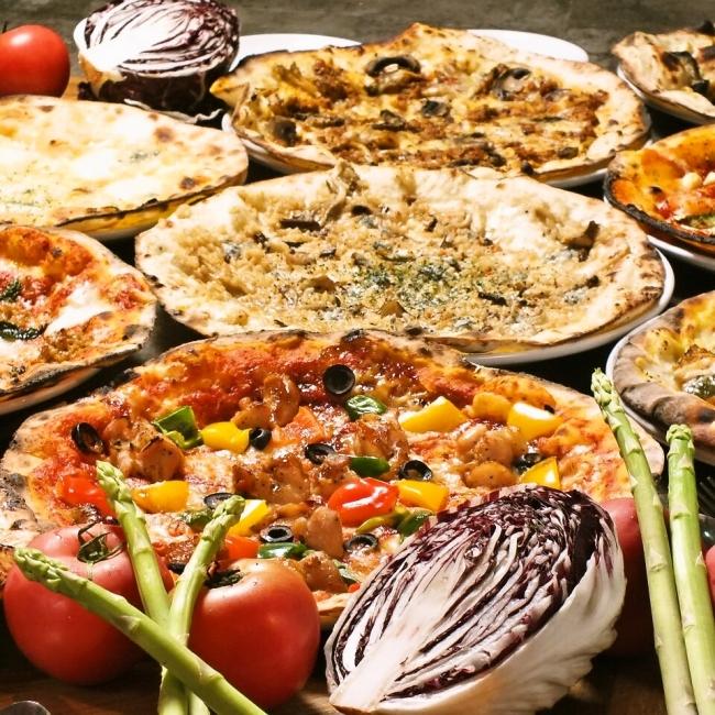 本格窯焼きPIZZAが30種類食べ放題
