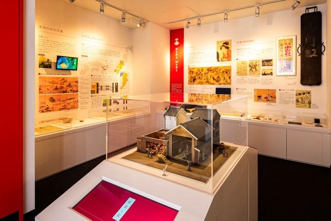紅ミュージアム常設展示室1 「紅」を知る