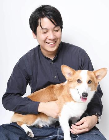 愛犬コルクと代表大久保泰介